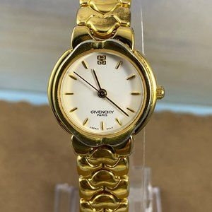 Vintage Ladies Givenchy  Paris Watch Gold Tone